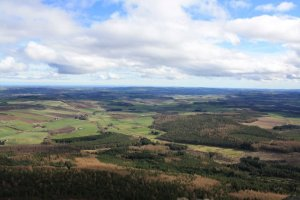 A view from the top of Bennachie, taken by my brother Coinneach.