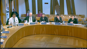 Yes, I really was at a committee at Holyrood, honest!