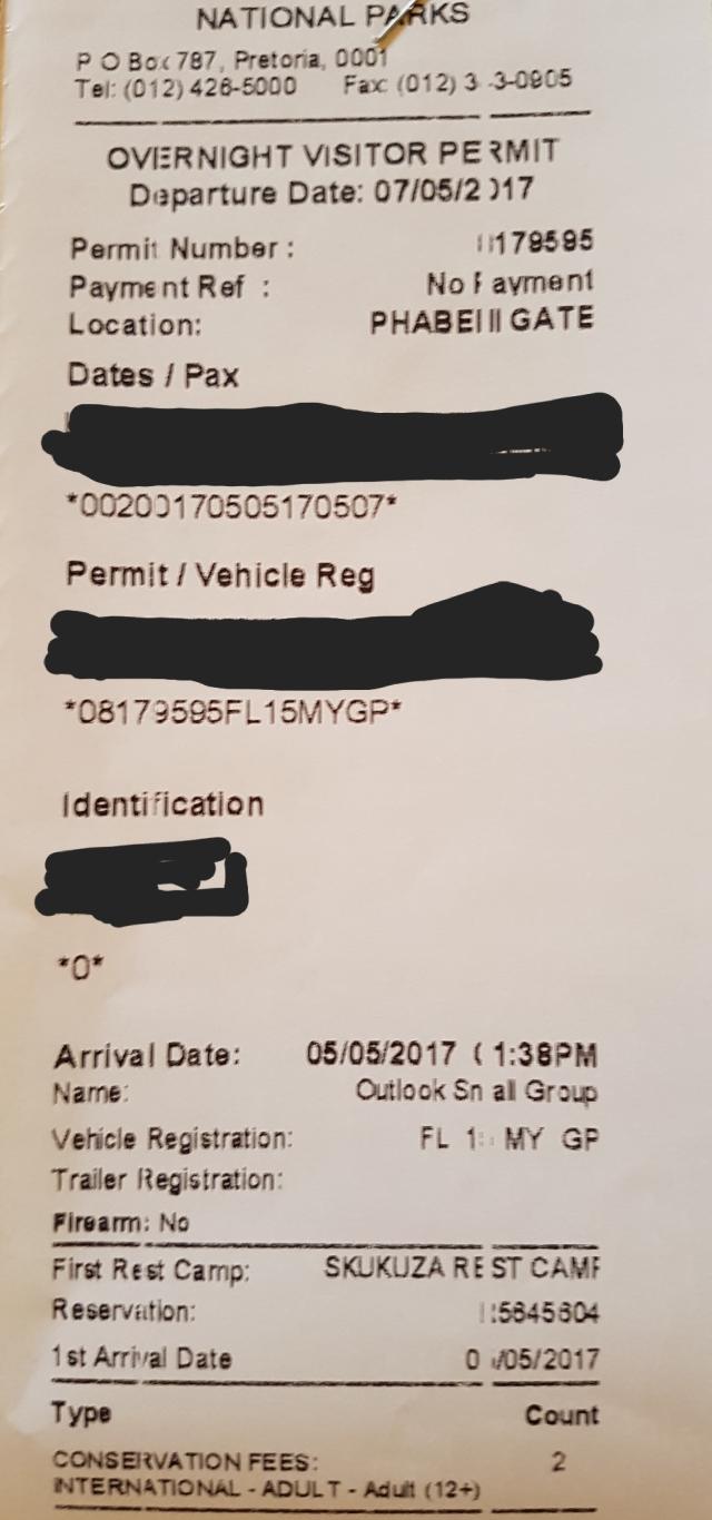Kruger Permit