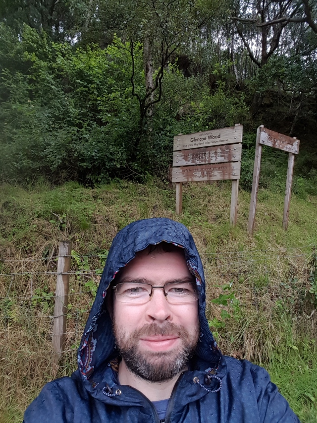 Selfie by Glencoe Wood sign