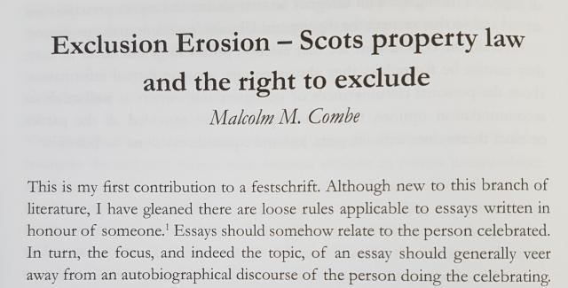 Festschrift extract