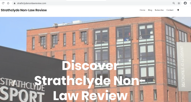 Strathclyde Non-Law Review